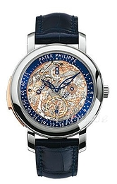 Patek Philippe Grand Complications Luurankokello/Nahka Ø43 mm 5104P/001