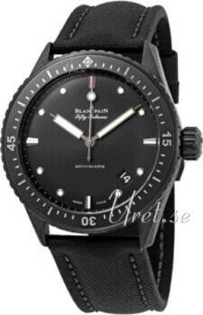Blancpain Fifty Fathoms Musta/Nahka Ø43.6 mm