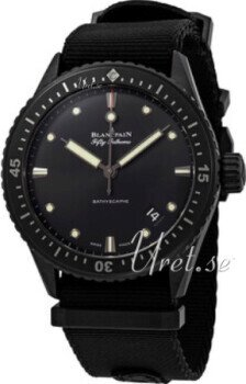Blancpain Fifty Fathoms Musta/Teräs