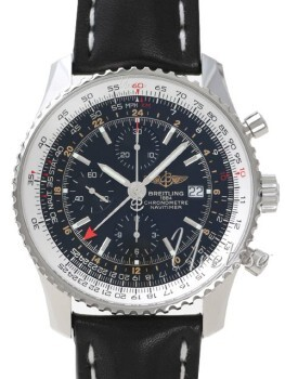Breitling Navitimer World Musta/Nahka Ø46 mm