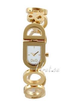 Dolce & Gabbana D&G Valkoinen/Kullansävytetty teräs 22x20 mm