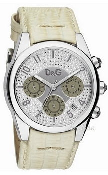 Dolce & Gabbana D&G Sandpiper Silver Dial Leather Strap