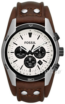 Fossil Chronograph Valkoinen/Nahka