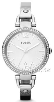 Fossil Georgia Valkoinen/Teräs