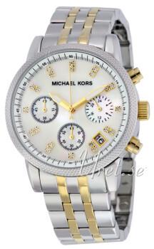 Michael Kors Chronograph Valkoinen/Kullansävytetty teräs Ø38 mm