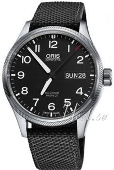 Oris Oris Aviation Musta/Tekstiili