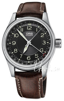 Oris Aviation Musta/Nahka