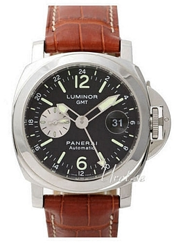 Panerai Contemporary Luminor GMT Musta/Nahka Ø44 mm