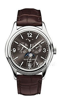 Patek Philippe Grand Complications Annual Calender Harmaa/Nahka