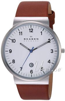 Skagen 3 Hand Quartz Valkoinen/Nahka