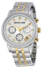Michael Kors Chronograph Valkoinen/Kullansävytetty teräs