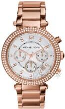 Michael Kors Parker Chronograph Glitz Valkoinen/Punakultasävyine