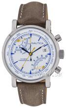 Nautica Chronograph Valkoinen/Nahka
