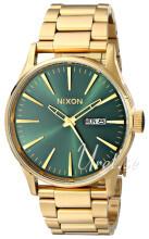 Nixon The Sentry Vihreä/Kullansävytetty teräs