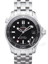 Omega Seamaster Diver 300m Co-Axial 36.25mm Musta/Teräs