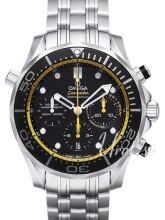 Omega Seamaster Diver 300m Co-Axial Chronograph 44mm Musta/Teräs