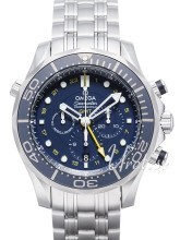 Omega Seamaster Diver 300m Co-Axial GMT Chronograph 44mm Sininen
