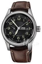 Oris Aviation Musta/Nahka Ø44 mm