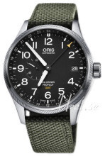 Oris Aviation Musta/Tekstiili Ø45 mm