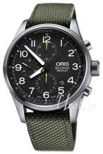 Oris Aviation Musta/Tekstiili