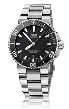 Oris Divers Aquis Date Musta/Teräs