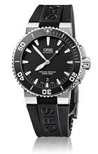Oris Divers Aquis Date Musta/Kumi