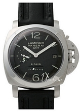 Panerai Historic Luminor 1950 8 Days GMT Musta/Nahka Ø44 mm