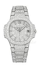 Patek Philippe Nautilus Diamond Dial White Gold Bracelet