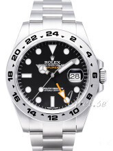 Rolex Explorer II Musta/Teräs