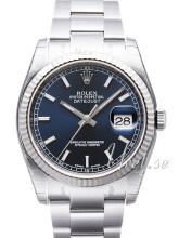 Rolex Datejust 36 Sininen/Teräs