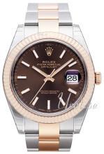 Rolex Datejust41 Ruskea/18K punakultaa