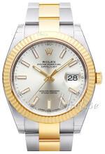 Rolex Datejust41 Hopea/18K keltakultaa