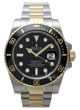 Rolex Submariner Black Dial Gold/Steel Ceramic Bezel