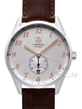 TAG Heuer Carrera Heritage Silver Dial Leather