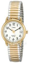 Timex Easy Reader Valkoinen/Kullansävytetty teräs