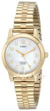 Timex Classic Elevated Valkoinen/Kullansävytetty teräs