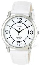 Timex Classic Elevated Valkoinen/Nahka